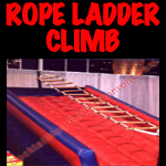 inflatable rope ladder climb
