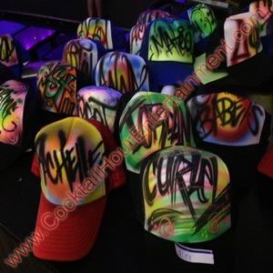 airbrush graffiti hats