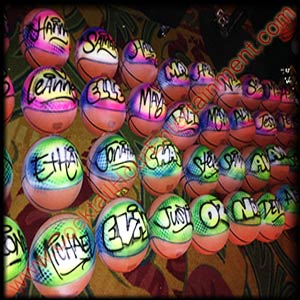 airbrush graffiti basketballs