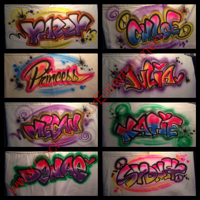 airbrush graffiti samples